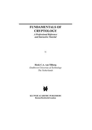 Download this PDF course intituled Fundamentals of Cryptology