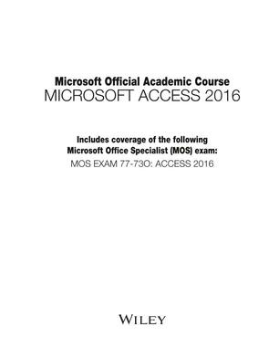 Tutorial Access 2016 in PDF