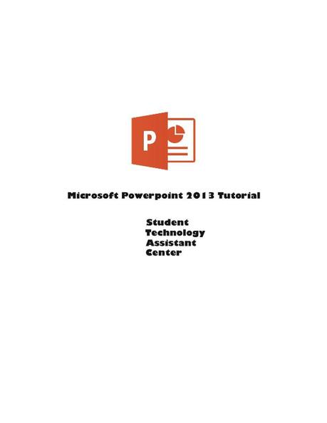 PowerPoint 2013 course
